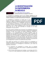 La Investigacion en Enfermeria en Mexico