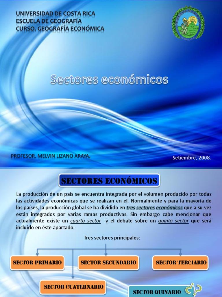 Sectores Económicos y Los Fundamentos Teóricos