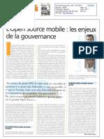 201107 Open Source Mobile - Les Enjeux de La Gouvernance