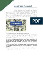 Cómo gana dinero Facebook