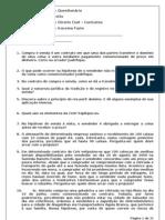 Questionário de Contratos 2011