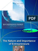 Chapter 1 - The Nature and Importance of Entrepreneurs
