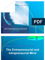 Chapter 2 - The Entrepreneurial and Intrapreneurial Mind