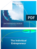 Chapter 3 - The Individual Entrepreneur