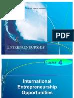 Chapter 4 - International Entrepreneurship Opportunities