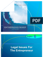 Chapter 6 - Legal Issues For  The Entrepreneur