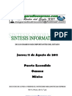 SINTESIS INFORMATIVA AGOSTO 11 2011