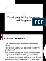 Chapter 12 - Developing Pricing Strategies and Programs