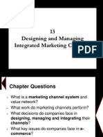 Chapter 13 - Designing and Managing Integrated Marketing Channels