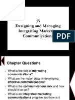 Chapter 15 - Designing and Managing Integrating Marketing Communications