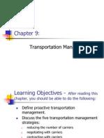Chapter 9 - Transportation Management