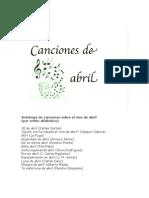 Canciones de abril
