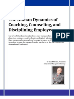 The Human Dynamics of Coaching, Counseling, and Disciplining Employees