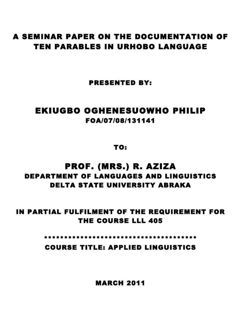 LANGUAGE PLANNING IN URHOBO PDF