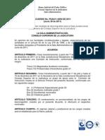 Acuerdo Sala Adtva CSJudicatura