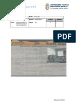 Informde de prensa del 05 al 11 de agosto de 2011