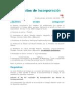 requisitos incorporacion COLYPRO