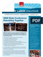 Country Labor Dialogue - August 2011