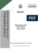 Paket 2 Soal Mat UN 2003-2004