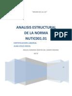 Analisis Estructural de La Norma Nutic001.01