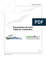 OpenOffice / LibreOffice - Tabla de Contenidos