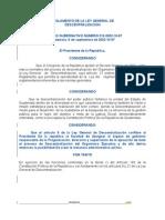 Reglamento  Descentralizacin