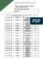 CALENDARIO DE evaluación AGOSTO - DIC.