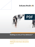 Sales Force Effectiveness - building an Army of True Believers