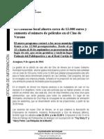 El Gobierno Municipal ahorra 13000 euros en el cine de verano.