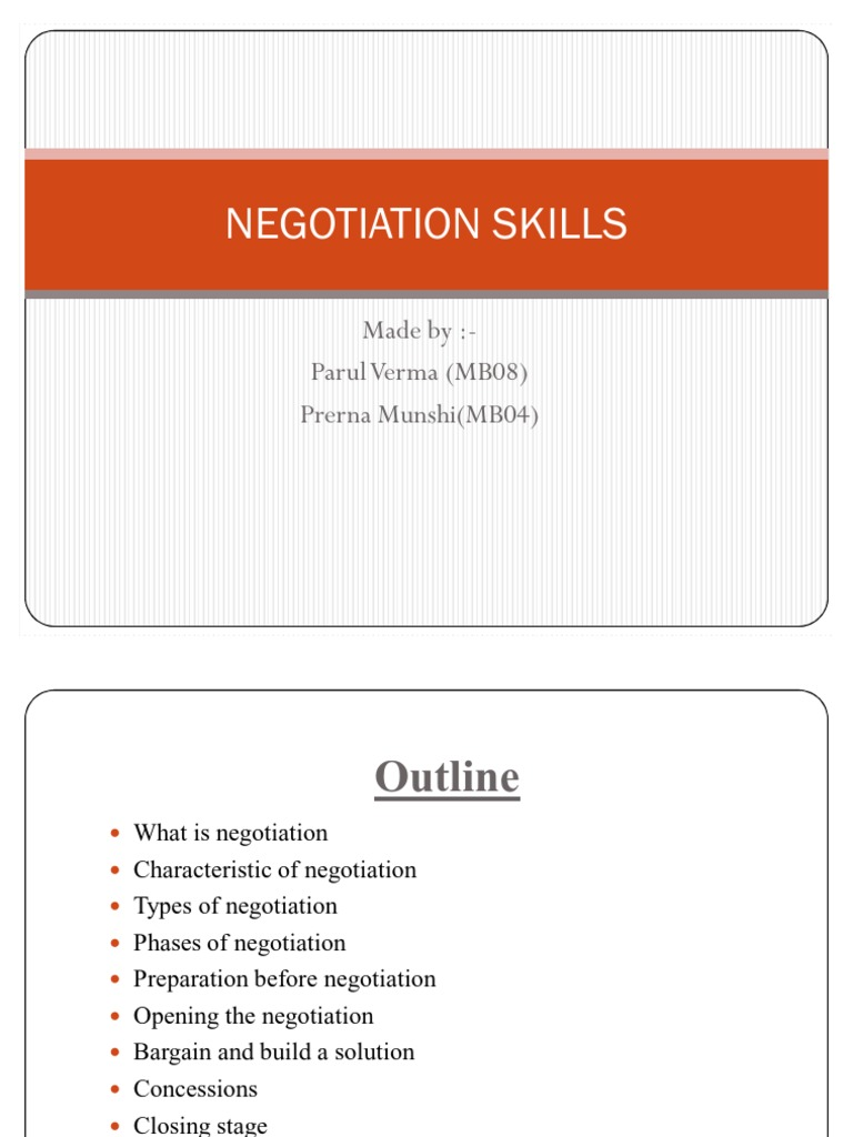 phases of negotiation