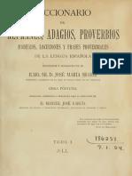 Sbarbi Jose Maria -Diccionario de Refranes Adagios Proverbios Modismos