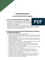 Domande sulla carta dei diritti dei passeggeri