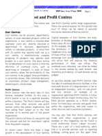 Cost and Profit Centres