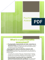 Psycho Metric Assessment Ppt