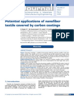 Potential Applications of Nanofiber Textile Covered by Carbon Coatings
