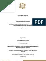 Call for Paper-World Zakat Forum
