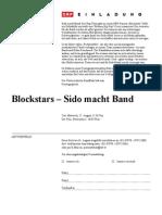 Einladung Blockstars