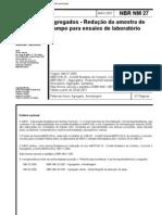NBR NM 27 - Agregados - Redução da amostra de