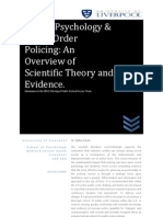 Crowd Psychology & Public Order Policing