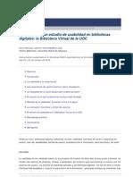 Aplicación de un estudio de usabilidad en bibliotecas  digitales