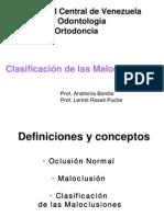 Clasificación de Maloclusiones
