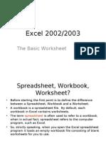 Excel Lesson 01 - The Basic Worksheet
