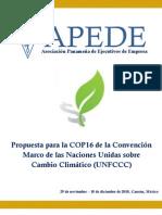 Propuesta APEDE para la COP16