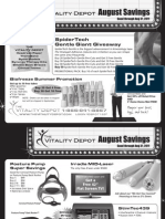 Vitality Depot August Promos Flyer 8-11
