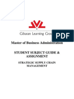 MBA Student Subject Guide and Assignment - SSUP - V2May11