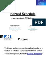 Earned Schedule - PMI