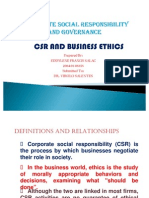 CSR and Business Ethics REPORT