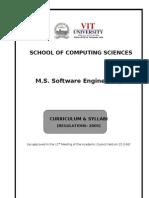 MS Software Engg Regulations Curriculum & Syllabi