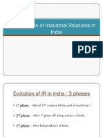 Evolution of Industrial Relations in India