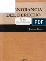 Costa, Joaquín - La Ignorancia del Derecho - Valletta, 2004